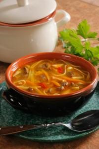 Суп з курячою печінкою (курячий бульйон)