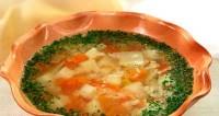 Суп з овочами та рисом