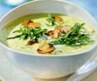 Суп з плавленим сиром і грибами