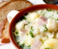Суп з шинкою і кольоровий капустою