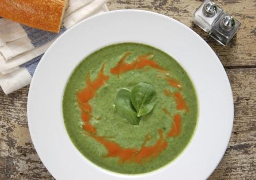 Супи зі шпинатом - користь щодня