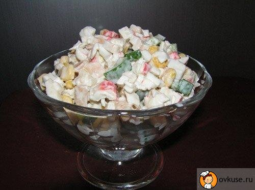 Сирний крабовий салат