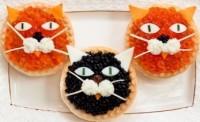 Тарталетки з ікрою «Коти»
