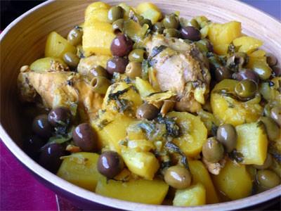 Тажин з куркою, оливками і лимонами