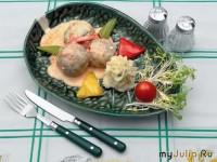 Тефтелі з філе курки із зеленню