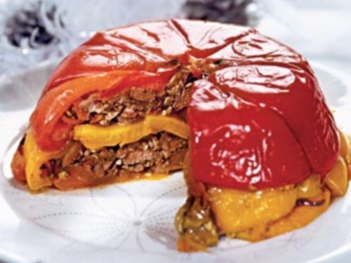 Террін святковий з овочами і печінкою