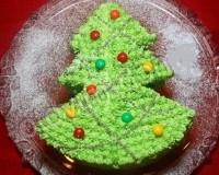 Торт бісквітний «Новорічна ялинка»