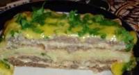 Торт з вафель з м'ясним фаршем