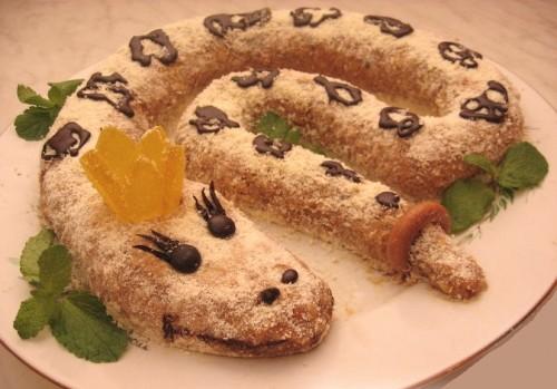 Новорічний Торт «Змія»