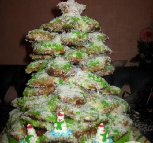 Торт «Новорічна ялинка» з заварним кремом