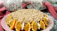 Торт з варенням і вівсяними пластівцями