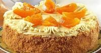 Торт листковий з абрикосами