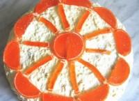 Торт «Сонячне коло» з сирним кремом