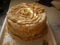 Торт «Сирний Наполеон»