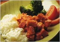 Тушковане м'ясо з рисом та овочами