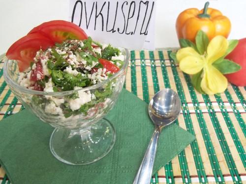 Сир з овочами і зеленню, рецепт приготування з фото