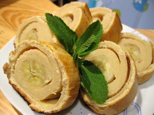 Сирно-банановий «багет»