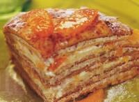 Сирно-горіховий торт блинчатый