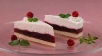 Сирний торт з малиною