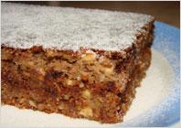 Сирний торт з горіхами