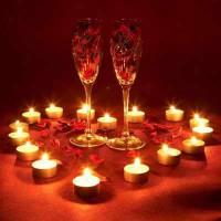 Прикраса столу в День св. Валентина
