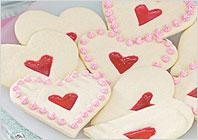 Ванільне печиво для Святого Валентина