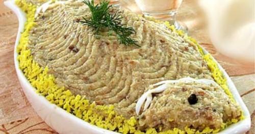 Закуска з рубаною оселедця по-татарськи