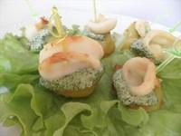 Закуска до пікніка «Кальмари на шпажках»