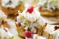 Закуска «Картопляні кошики з оселедцем»