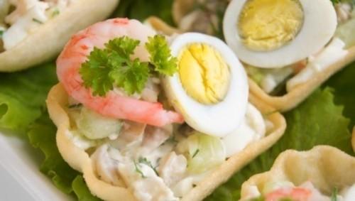 Закуска з грибами «Грездо креветки»