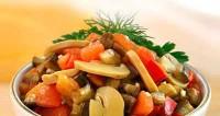 Закуска «шампіньйони з овочами»