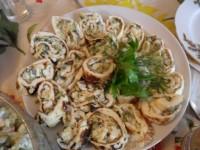 Закуска «Равлики» з омлету