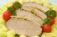Запечена у фользі свинина з яблуками (фото рецепт)