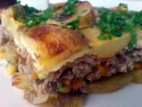 Запіканка з картоплею і м'ясом (в мультиварці)
