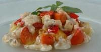 Смажені овочі з грибним соусом