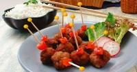 Смажені свинячі фрикадельки по-тайськи