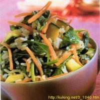 Смажений рис із зеленню