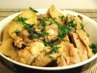 Печеня зі свинини з яблуками