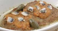 Печеня з анчоусами